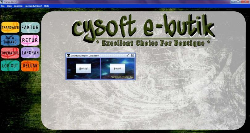 backup data dan import data - cysoft e-butik