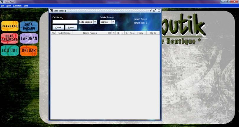 kasir pengelolaan data barang- cysoft e-butik